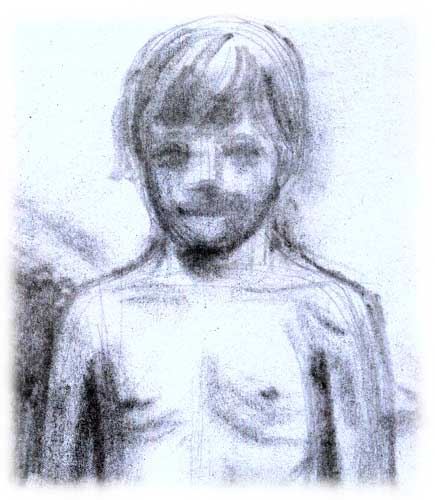 Croquis d'un visage de garçon