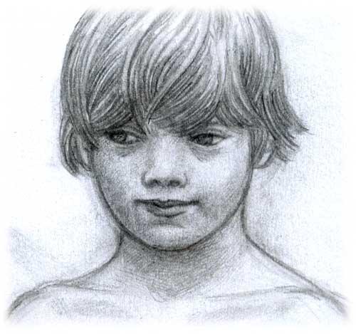 Dessin d'un visage de garçon